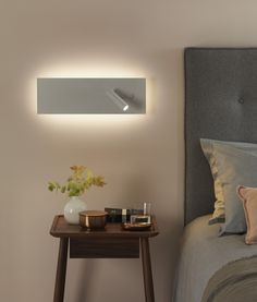 Stunning Large White LED Bedside Reading Light
