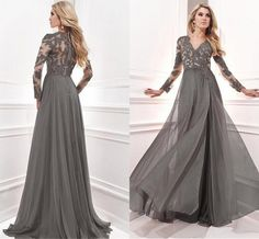 2015 Long Cheap Elegant Mother Of The Bride Dresses With Long Sleeves Prom Dress A Line Applique Lace Chiffon Pants Suit Wedding Bride Mothers Dresses Bride Of The Mother Dresses From Anaweddinghouse, $120.84| Dhgate.Com