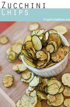 Salz und Pfeffer Zucchini Chips