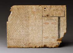 Writing board with an architectural drawing, New Kingdom, Dynasty 18, ca. 1550–1295 b.c.  Egyptian; From western Thebes  Plastered and painted wood