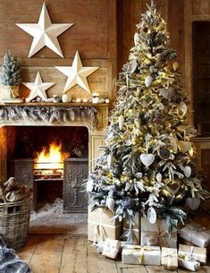Decoración rústica para la Navidad
