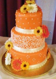 pretty orange cake