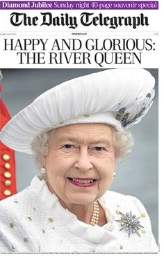 This is the front page of The Daily Telegraph (3 June 2012) special souvenir edition available on the streets of London shortly.