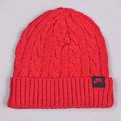 NIKE SB CABLE KNIT BEANIE VARSITY RED