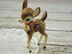 Image detail for -Vintage Deer Bambi Plastic Spotted Figurine by vtgcharleys1
