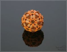 Spirala beading: Ripple Flower Beaded Bead in Pastel