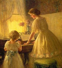 Francis Day - The Piano Lesson Frederick Childe Hassam - The Sonata George Bellows - Emma at the Piano Theodore Robinson - Girl At Piano Pierre-Auguste Renoir - The Piano Lesson Илья Репин - Портрет пианистки С.И.Ментер Louise Abbema - At the Piano Gustave…