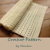 Ravelry: Crochet Gentle Cream Zigzag Baby Blanket (US terms) pattern by HanJan Crochet