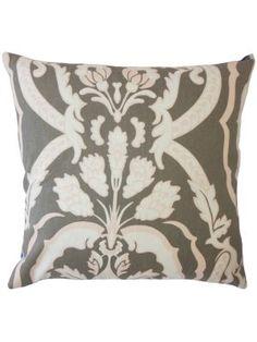 A Damask Throw Pillow Putty Custom Pillows Luxury Designer