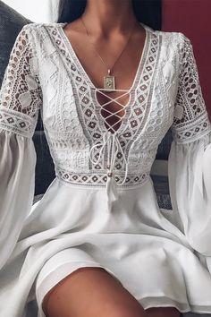 May 2020 - White Short Dress, Women Vintage Dresses Look Hippie Chic, Look Boho, Modest Fashion, Boho Fashion, Fashion Dresses, Style Fashion, Ankara Fashion, Africa Fashion, Classy Fashion