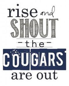 BYU Printable  Gooooo Cougars!