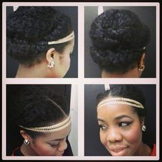 LovelyAnneka Natural hair style // Cutie with a headband