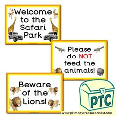 African Safari Role Play Resources - Primary Treasure Chest