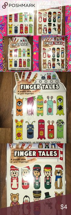 🌟Finger Tales Tattoos!🌟 Adorable Monster and Christmas themed finger tattoos! Finger Tales Other