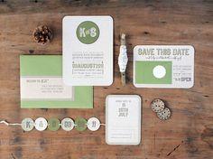 Kate + Steve's Organic Modern Wedding Invitations