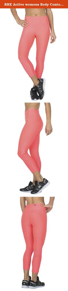 RBX Active womens Body Contouring High Waisted Crop Capri Compression Leggings,Pink Rose,Large. Fitted capri length high waisted leggings constructed for support and performance enhancing coverage. A tight compression fit that hugs your figure adds safety while providing a full range of motion. These body contouring capris are prepared to push your limits.