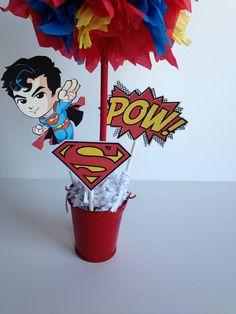 Superman Super Hero birthday party decoration by AlishaKayDesigns