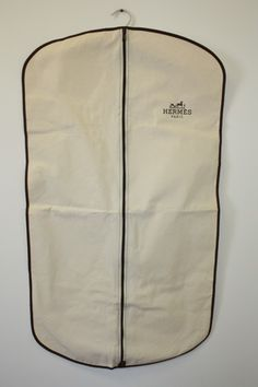 Vintage HERMES Natural Cotton Canvas Single Garment Bag with Hermes Logo at Rice and Beans Vintage.  http://www.riceandbeansvintage.com/newarrivals.html