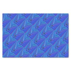 #Brilliant Blue Rose Pattern Tissue Paper - #giftsforher #gift #gifts #her