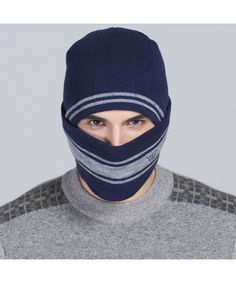 29870273014 Warm Winter Hat Knit Beanie Skull Cap Crochet Ear Thick Beanie Hat For Men  Navy Blue CJ1850I8WLR. Hats   Caps ...