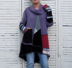 Plus Size Sweater Tunic Upcycled Clothing Recycled by AnikaDesigns, $87.00