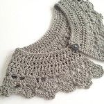 Hand crocheted collar/ peter pan collar -Silver grey- Vintage - Boho -FREE POST - by threebeansinapod on madeit
