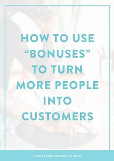 """If you're selling a product or service, then using """"bonuses"""" can be valuableway to convert more people into paying customers for your biz. What is a bonus? It's a little somethin' extrathat you give someone (fo' free!) who purchases one of your paid offerings. (But you already knew that).As you can probably guess, there are …"""