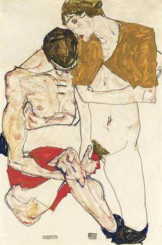 Egon Schiele - Lovers, 1913