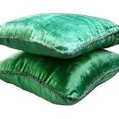16x16 Decorative Olive Green Sofa Cushion Cover | Etsy Sofa Throw Pillows, Couch Cushions, Throw Pillow Cases, Decorative Throw Pillows, Euro Pillow Shams, Velvet Couch, Velvet Pillows, Green Bedding, Green Pillows