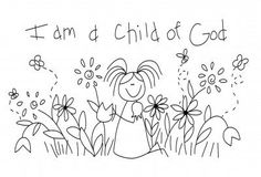 child of God - embroidery for Activity Day girls - pillow, tote, wall hanging