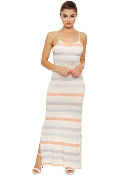 Ellie Striped Bodycon Maxi Dress