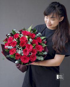 red rose bouquet (20 stalks) arranged with eucalyptus leaves and baby's breath. #bouquet #rosebouquet #rose #roseflower @24hrscityflorist #singaporeflorist #redrosebouquet #florist @floristsingapore Red Rose Bouquet, Flower Bouquets, Flowers, Tiffany Rose, Eucalyptus Leaves, Flower Delivery, Special Day, Red Roses, Lavender