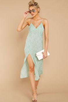 8e70e9ef06a1 Wonder When Mint Print Midi Dress (BACKORDER PENDING)