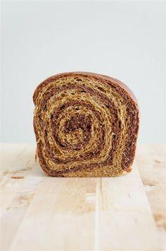: coffee & chocolate swirl bread.