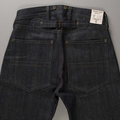 rawrdenim:  As a part of his new Authentic Line, revered British designer, Nigel Cabourn, introduces the 1940's inspired Work Jean. The 14 oz. denim is constructed from an organic, high-grade Japanese denim fabric cut with a relaxed mid-century fit, and incorporates a range of period details; such as the cinch-back, exposed rivets, and suspender buttons.Read more at:http://rwrdn.im/nigel-cabourn-1940s-work-jeans