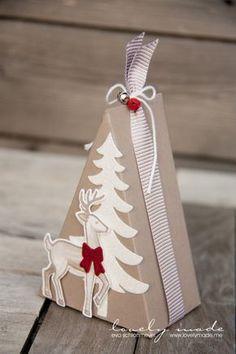 Ribbon gift tree box