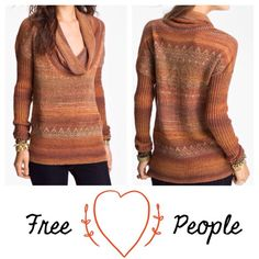 "Free People Sweater HOST PICK Very Nice soft bohemian sweater.  great with boots. I wore this twice. It has a small black mark on the sleeve that is not really noticeable at all. Host Pick for ""Sweater Weather."" Firm on price. Free People Sweaters"