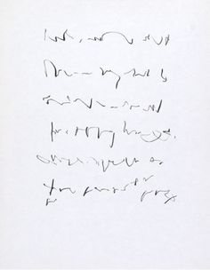 Asemic writing : Judith Reigl (hungarian artist) untitled 1965 - ink on paper