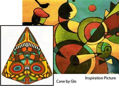 Student's Color Inspiration Picture with Cane (Glo) | by It's all about color