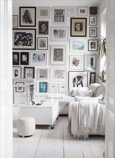 Tutorial from Dishfunctional Designs on creating and arranging an eclectic gallery wall.