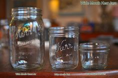 Kerr jars. I'm picturing the big one, but it might be cool to have different sizes.