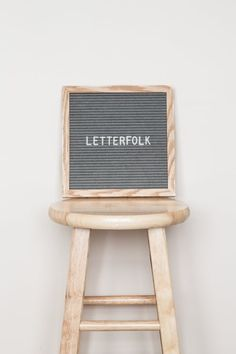 "Letterfolk 10"" x 10"" square grey felt letter board"