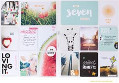 Collecting Summer Memories by confettiheart at @studio_calico #studiocalico #projectlife