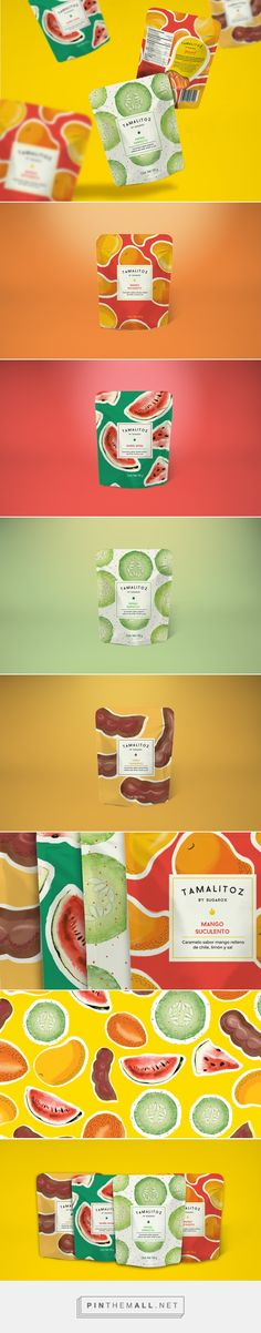 TAMALITOZ Candy Packaging project on Behance by The Welcome Branding Group curated by Packaging Diva PD. Kids Packaging, Pouch Packaging, Fruit Packaging, Food Packaging Design, Beverage Packaging, Pretty Packaging, Branding Design, Organic Packaging, Coffee Packaging