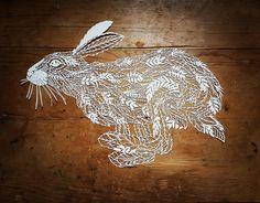 Running Hare Papercut. Hand drawn and hand cut from a single sheet of A3 paper. COPYRIGHT EMMA BOYES #strictlypaperart #lgenpaper #creativeinstaartists #creative_animalart #animalart #animalcreatives #art_we_inspire #art_sanity #arts_spotlight #arts_help #arts_gallery #artist_4_shoutout #artist_sharing #artist_features #worldofartists #blvart #illustrate #papercutillustration #paperengineering #paperartist #arts_secret #artist_sharing #artist_features #haresofinstagram #copyrightemmaboyes