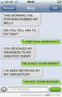 8 Hilarious Text Message Conversations with Dogs