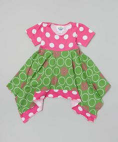 Loving this Green Perfect Circle Hanky Dress - Infant, Toddler & Girls on #zulily! #zulilyfinds