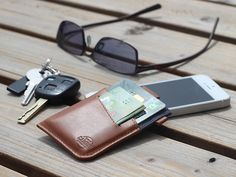 WOLYT Sleeve Minimalist wallets do a great job of cutting