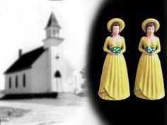 Vintage Bride's Maids Wedding Cake Topper by HelenMayVintage
