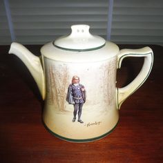 "Details about Rare Royal Doulton Shakespeare Series ""Hamlet"" 4 Cup Teapot D3746…"